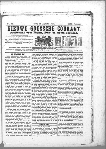 Nieuwe Goessche Courant 1870-08-21