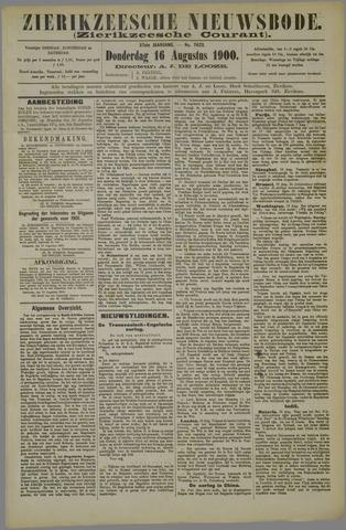 Zierikzeesche Nieuwsbode 1900-08-16