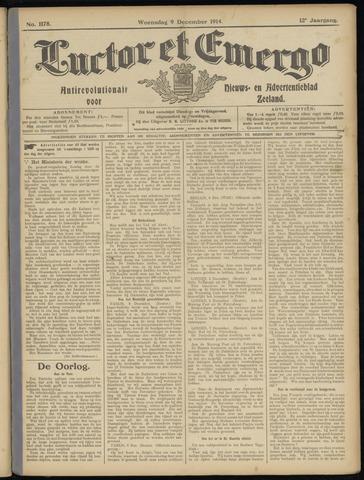 Luctor et Emergo. Antirevolutionair nieuws- en advertentieblad voor Zeeland / Zeeuwsch-Vlaanderen. Orgaan ter verspreiding van de christelijke beginselen in Zeeuwsch-Vlaanderen 1914-12-09