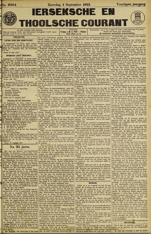Ierseksche en Thoolsche Courant 1923-09-01