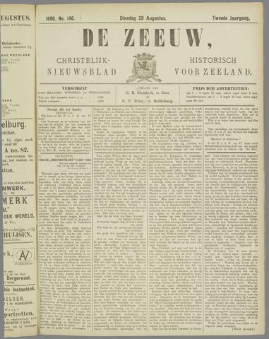 De Zeeuw. Christelijk-historisch nieuwsblad voor Zeeland 1888-08-28