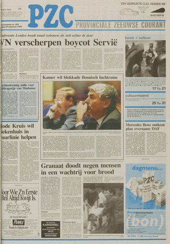 Provinciale Zeeuwse Courant 1992-08-28