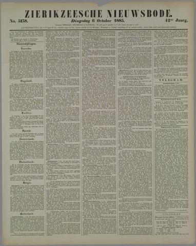 Zierikzeesche Nieuwsbode 1885-10-06