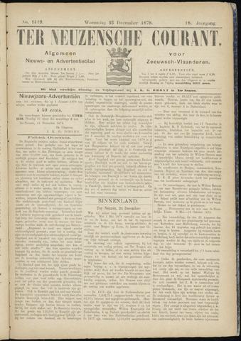 Ter Neuzensche Courant. Algemeen Nieuws- en Advertentieblad voor Zeeuwsch-Vlaanderen / Neuzensche Courant ... (idem) / (Algemeen) nieuws en advertentieblad voor Zeeuwsch-Vlaanderen 1878-12-25
