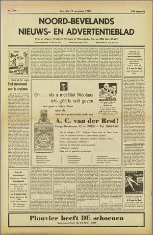 Noord-Bevelands Nieuws- en advertentieblad 1958-11-15