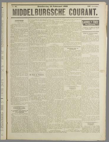 Middelburgsche Courant 1925-02-19