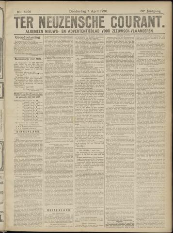 Ter Neuzensche Courant. Algemeen Nieuws- en Advertentieblad voor Zeeuwsch-Vlaanderen / Neuzensche Courant ... (idem) / (Algemeen) nieuws en advertentieblad voor Zeeuwsch-Vlaanderen 1920-04-08
