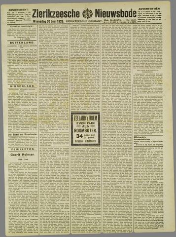 Zierikzeesche Nieuwsbode 1926-06-30
