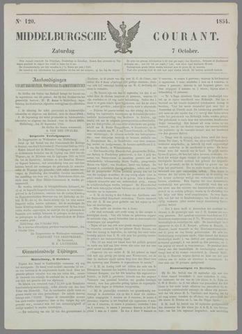 Middelburgsche Courant 1854-10-07