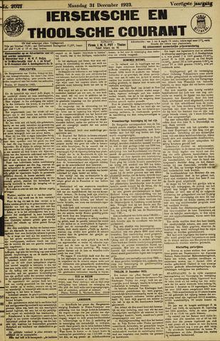Ierseksche en Thoolsche Courant 1923-12-31