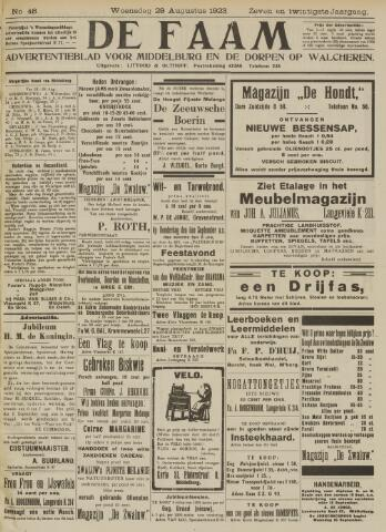 de Faam en de Faam/de Vlissinger 1923-08-29