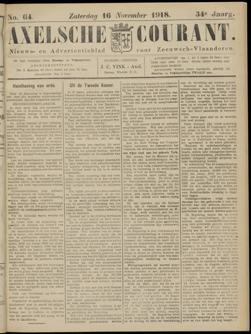 Axelsche Courant 1918-11-16