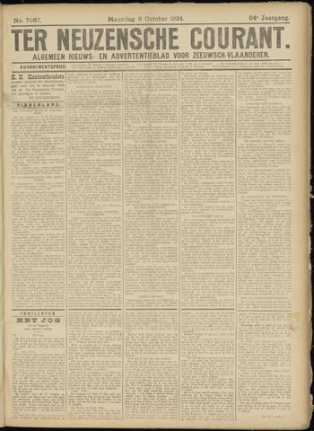 Ter Neuzensche Courant. Algemeen Nieuws- en Advertentieblad voor Zeeuwsch-Vlaanderen / Neuzensche Courant ... (idem) / (Algemeen) nieuws en advertentieblad voor Zeeuwsch-Vlaanderen 1924-10-06