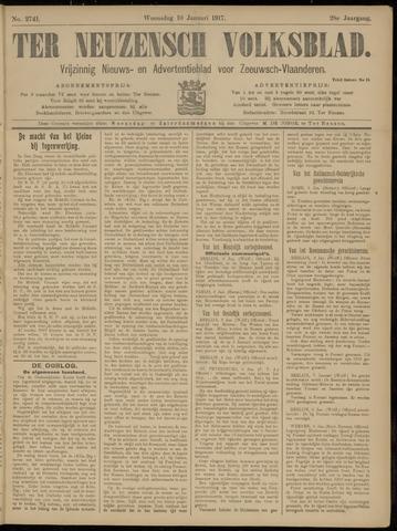 Ter Neuzensch Volksblad. Vrijzinnig nieuws- en advertentieblad voor Zeeuwsch- Vlaanderen / Zeeuwsch Nieuwsblad. Nieuws- en advertentieblad voor Zeeland 1917-01-10