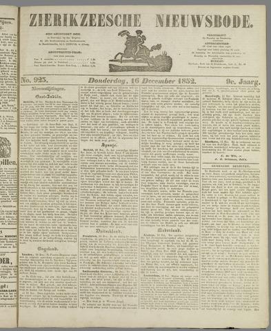 Zierikzeesche Nieuwsbode 1852-12-16