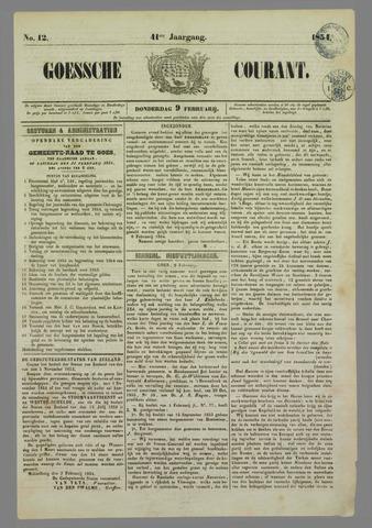Goessche Courant 1854-02-09