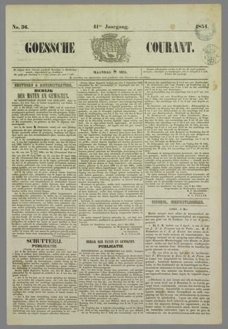 Goessche Courant 1854-05-08