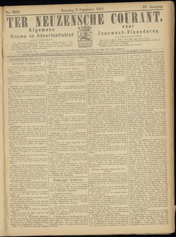 Ter Neuzensche Courant. Algemeen Nieuws- en Advertentieblad voor Zeeuwsch-Vlaanderen / Neuzensche Courant ... (idem) / (Algemeen) nieuws en advertentieblad voor Zeeuwsch-Vlaanderen 1911-09-09