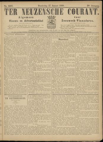 Ter Neuzensche Courant. Algemeen Nieuws- en Advertentieblad voor Zeeuwsch-Vlaanderen / Neuzensche Courant ... (idem) / (Algemeen) nieuws en advertentieblad voor Zeeuwsch-Vlaanderen 1898-01-27
