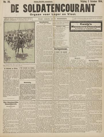 De Soldatencourant. Orgaan voor Leger en Vloot 1914-10-02