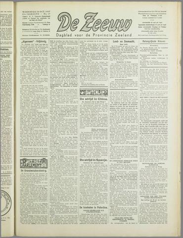 De Zeeuw. Christelijk-historisch nieuwsblad voor Zeeland 1937-10-20