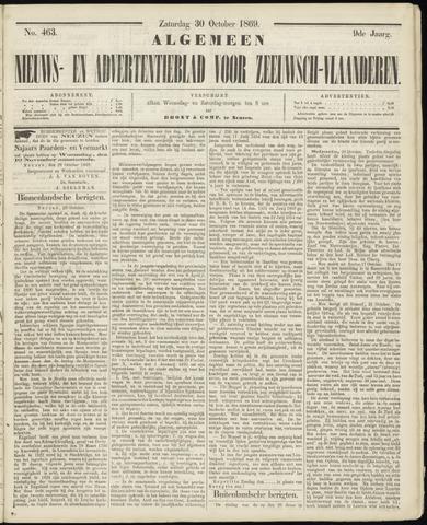 Ter Neuzensche Courant. Algemeen Nieuws- en Advertentieblad voor Zeeuwsch-Vlaanderen / Neuzensche Courant ... (idem) / (Algemeen) nieuws en advertentieblad voor Zeeuwsch-Vlaanderen 1869-10-30