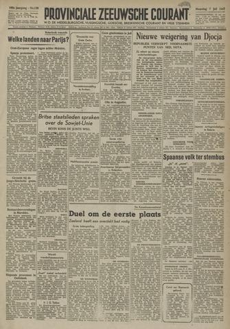 Provinciale Zeeuwse Courant 1947-07-07