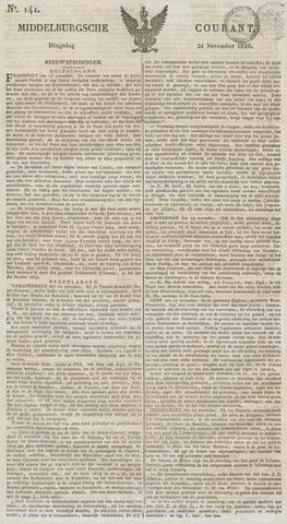 Middelburgsche Courant 1829-11-24