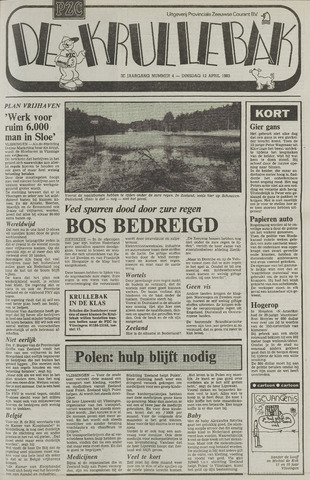 Provinciale Zeeuwse Courant katern Krullenbak (1981-1999) 1983-04-12