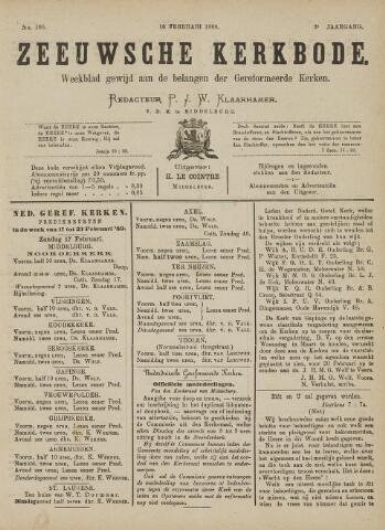 Zeeuwsche kerkbode, weekblad gewijd aan de belangen der gereformeerde kerken/ Zeeuwsch kerkblad 1889-02-16
