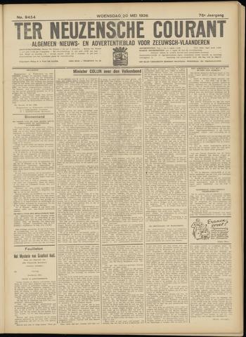 Ter Neuzensche Courant. Algemeen Nieuws- en Advertentieblad voor Zeeuwsch-Vlaanderen / Neuzensche Courant ... (idem) / (Algemeen) nieuws en advertentieblad voor Zeeuwsch-Vlaanderen 1936-05-20