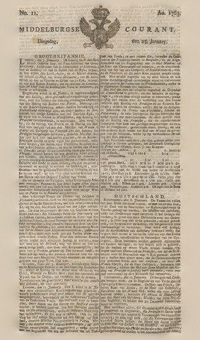 Middelburgsche Courant 1763-01-25