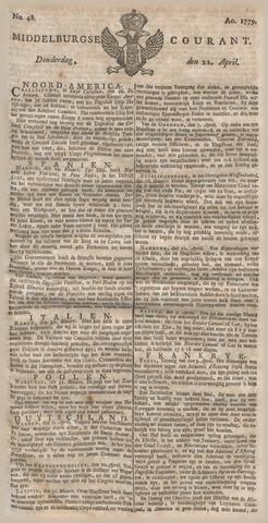 Middelburgsche Courant 1779-04-22
