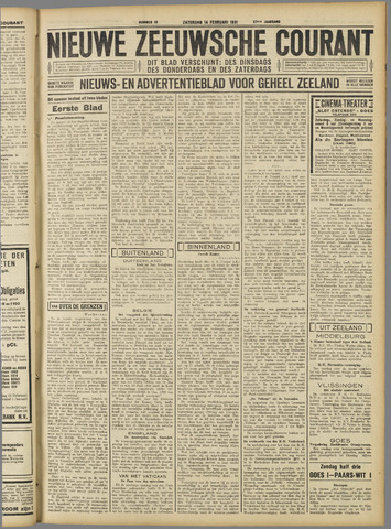 Nieuwe Zeeuwsche Courant 1931-02-14