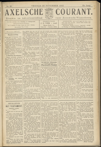 Axelsche Courant 1935-11-29