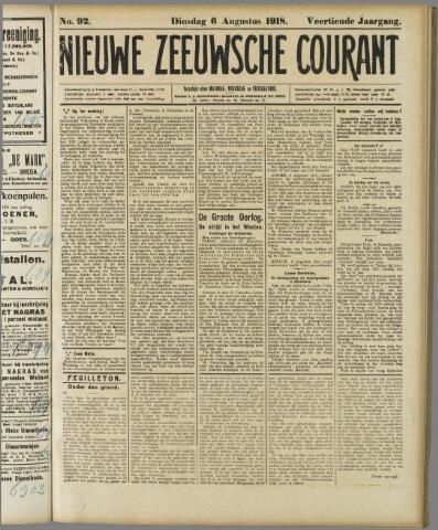 Nieuwe Zeeuwsche Courant 1918-08-06