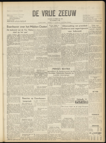 de Vrije Zeeuw 1957-02-22