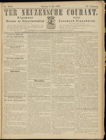 Ter Neuzensche Courant. Algemeen Nieuws- en Advertentieblad voor Zeeuwsch-Vlaanderen / Neuzensche Courant ... (idem) / (Algemeen) nieuws en advertentieblad voor Zeeuwsch-Vlaanderen 1907-07-09