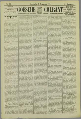 Goessche Courant 1924-08-07