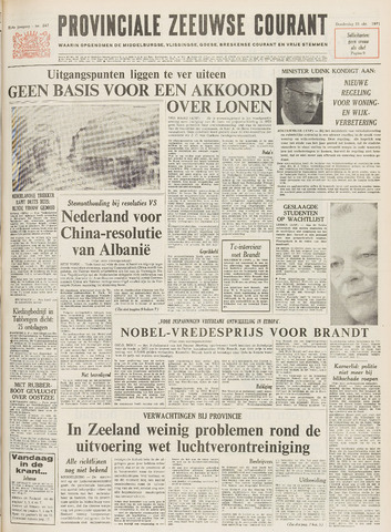 Provinciale Zeeuwse Courant 1971-10-21