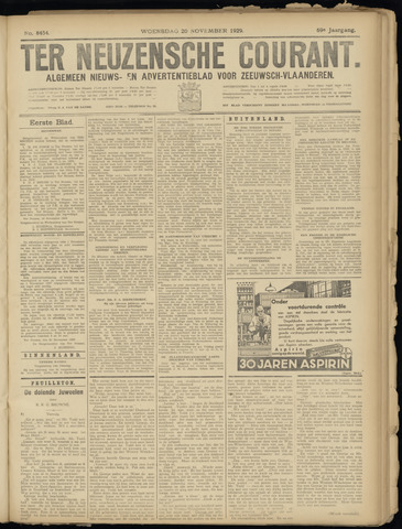 Ter Neuzensche Courant. Algemeen Nieuws- en Advertentieblad voor Zeeuwsch-Vlaanderen / Neuzensche Courant ... (idem) / (Algemeen) nieuws en advertentieblad voor Zeeuwsch-Vlaanderen 1929-11-20