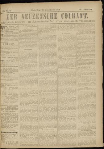 Ter Neuzensche Courant. Algemeen Nieuws- en Advertentieblad voor Zeeuwsch-Vlaanderen / Neuzensche Courant ... (idem) / (Algemeen) nieuws en advertentieblad voor Zeeuwsch-Vlaanderen 1918-12-21