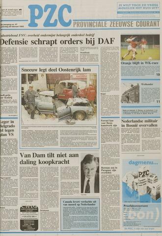 Provinciale Zeeuwse Courant 1993-02-25