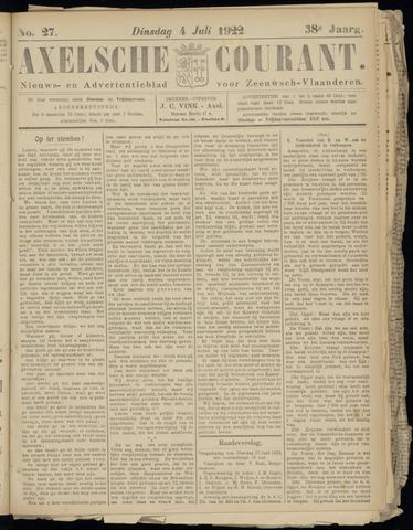 Axelsche Courant 1922-07-04