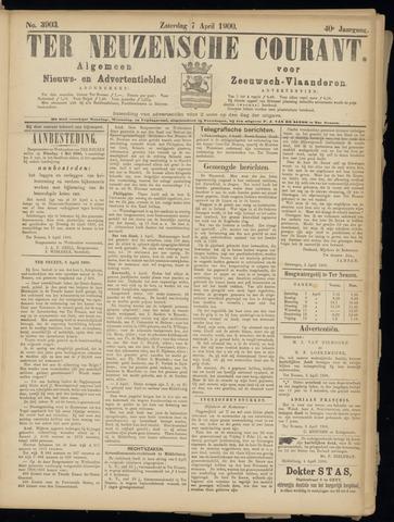 Ter Neuzensche Courant. Algemeen Nieuws- en Advertentieblad voor Zeeuwsch-Vlaanderen / Neuzensche Courant ... (idem) / (Algemeen) nieuws en advertentieblad voor Zeeuwsch-Vlaanderen 1900-04-07