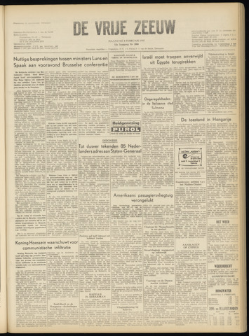 de Vrije Zeeuw 1957-02-04