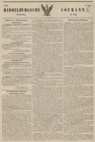 Middelburgsche Courant 1852-07-22