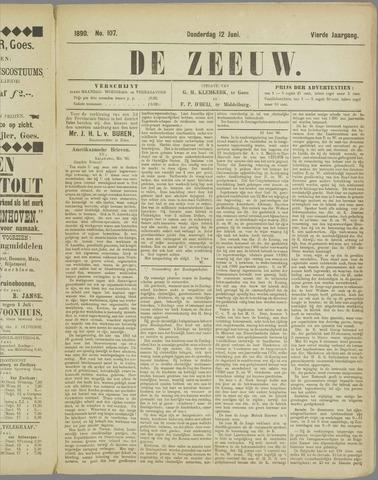 De Zeeuw. Christelijk-historisch nieuwsblad voor Zeeland 1890-06-12