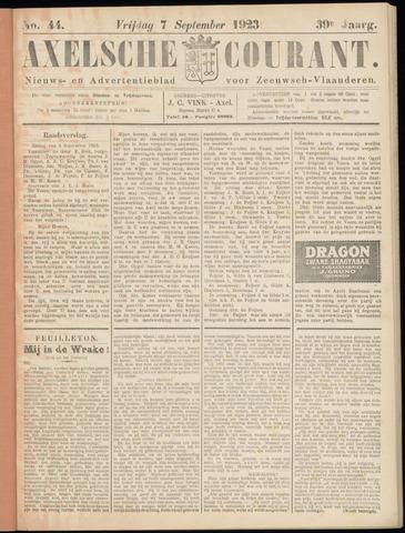 Axelsche Courant 1923-09-07