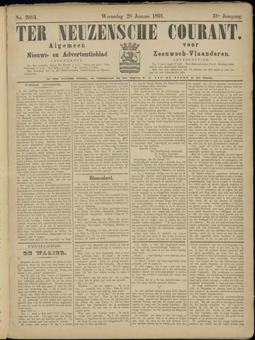 Ter Neuzensche Courant. Algemeen Nieuws- en Advertentieblad voor Zeeuwsch-Vlaanderen / Neuzensche Courant ... (idem) / (Algemeen) nieuws en advertentieblad voor Zeeuwsch-Vlaanderen 1891-01-28